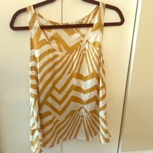 White and gold tank